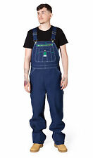 Mens Bib Overalls Indigo Blue Denim Work Jeans from Liberty USA Big and Tall