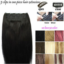 200g 160g 100g Clip In Remy Hair Extensions Full Head Thick Straight one Piece