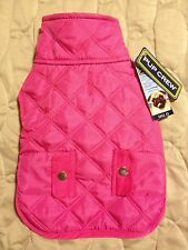 Beautiful Pink Diamond Quilt Dog Jacket / Coat w/Fleece Interior - Pup Crew- NWT