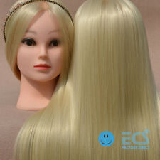 """26"""" Blonde Hair Salon Synthetic Cosmetology Real Training Human Head Mannequin +"""