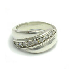 R000578 STYLISH STERLING SILVER RING SOLID 925 WITH 8 CZ