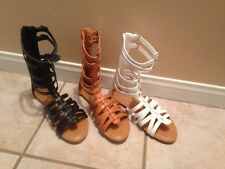 Ladies Womens Gladiator Sandals Strappy Summer Shoes