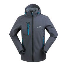 NWT Mens Soft Shell Coat Waterproof Parka Hooded Softshell Outdoor Sport Jacket