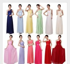 Women One Shoulder  Party Evening Wedding Bridesmaid Prom Ball Long Dress Formal