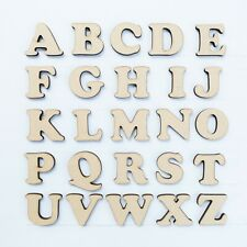 40mm MDF Craft Letters - Wooden Alphabet Letters & numbers of wood shapes sets