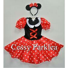 Girls Minnie Mouse Fancy Dress Up Disney Cartoon Character Costume S M L AU