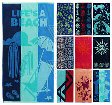 Large 100 % Cotton Beach Towel Bath Sheet Holiday Towels Luxury Combed Absorbent