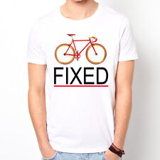 Fixed Gear Bicycle bike sport street fashion hipster white t-shirt