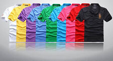 2014 Men's Polo Sweater T-shirts Tops Graphic Embroldered Short Sleeve Tee ES UK