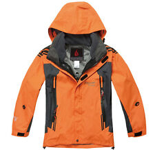 NEW Kids Winter 2in1 Jackets Thicken Hood Ski Coats Snow Hiking Cycling Camping