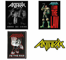 Anthrax Sew/iron On Patch/Patches NEW OFFICIAL. 4 designs to choose from