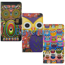 Bfun Cartoon Owl Card Slot Leather Wallet Case Cover for Samsung Galaxy Note 3