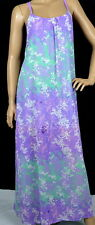 UMGEE PURPLE/MINT CAGE BACK ABSTRACT MAXI DRESS S-M-L C6821 Optional Belt