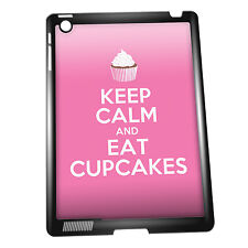 Cover for iPad 2/3/4 case #200 Keep Calm and Eat Cupcakes Funny Gift Idea Food