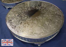 """Silver Plated Round Wedding Cake Stand, High Quality, Sheffield Made,12"""",14"""",16"""""""