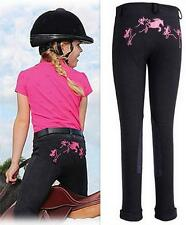 Tuff Rider Training Schooling Jods Pull on Pant English Apparel BLACK/ PINK 6~16