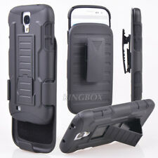 Armor Impact Hard Stand Case Cover Belt Clip Holster For Samsung iPhone HTC LG