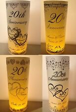 10 Personalized Hearts LoveBirds Anniversary Party Luminaries Table Centerpieces