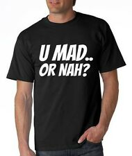 Mens Printed You U Mad Or Nah T-Shirt Mike Hardy Vine Funny Twitter Facebook