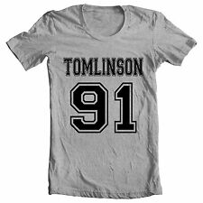 Gris » Tomlinson, 91' One Direction inspirado Niall Zayn Harry Louis Liam Camiseta