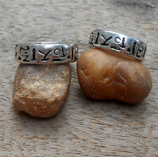 BAND RING Ancient Scripture Angkor Wat Cambodia Energy Protection Luck Amulet