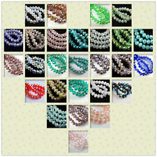 Bulk 100Pcs 4x3mm Faceted Glass Loose Beads Spacer Rondelle Craft Jewelry Charms