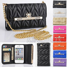 Women Clutch Bag Lady Bling Diamond Handbag Purse Wallet Case for iPhone 4 4S