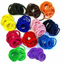 12 Thick Endless Snag Free Hair Elastics Bobbles Bands Ponios Mix Quality Plats