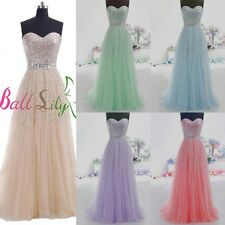 Long Sweetheart Tulle Prom Dresses Sequined Formal Ball Party Dress Evening Gown