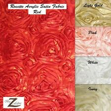 "ROSETTE ACRYLIC SATIN FABRIC - 5 Colors - 58""/60"" WIDTH SOLD BY THE YARD"