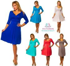 ♥ Sexy Dress 3/4 Sleeve  Maternity V Neck Cocktail Dress Sizes S|M|L|XL ♥ 4400