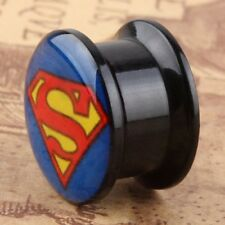 New Superman Screw Fit Flesh Tunnels Ear Plugs Stretcher Expander Earlets Gauges