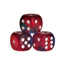 Dices - Los Angeles - Red-Blue - Plastic - 16mm - 0.63inch