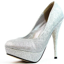 Top Moda Special Glitter Platform Pumps Classic High Heel Women Dress Sexy Shoes