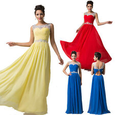 Sleeveless Backless Chiffon Ball Gown Evening Prom Party CocktailBanquet Dress