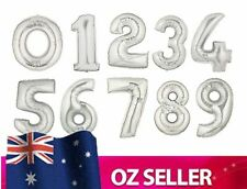 Silver Foil Helium number balloon - 40 inch / 100cm Brithday Party 1 2 3 4 0 NEW