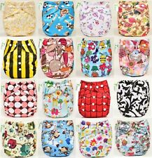 New Baby T Diaper Printed Cloth Diapers Lot Adjustable Nappy Covers Liner Insert