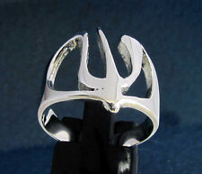 Ring with Greek Letter Psi Symbol Initial - Sterling Silver 925 custom size