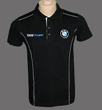 BMW M power  t-shirt with collar black - embroidered logos