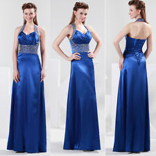 2014 CHEAP~Formal Occasion Silk-like Sparkle Evening Bridal Prom Gown Long Dress