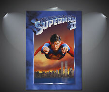 Superman II Vintage Movie Poster - A1, A2, A3, A4 Sizes