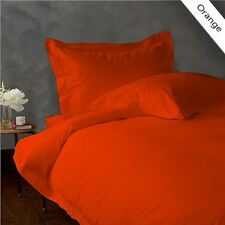 NEW ORANGE 1000TC EGYPTIAN COTTON COMPLETE BEDDING COLLECTION ALL SIZES SHEETS