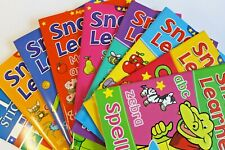 SNAPPY LEARNER CHILDREN'S EDUCATIONAL ACTIVITY BOOKS. SPELLING, ADDING, READING.