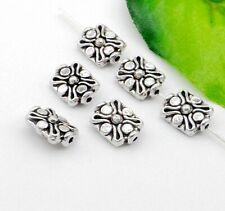 40/200Pcs Tibetan Silver Spacers Beads For Jewelry Making 9x12mm Free Ship