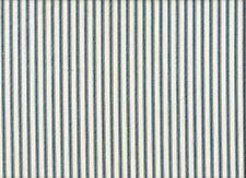 """2 French Country Ticking Stripe Nautical Blue 84"""" Curtain Panels Cotton"""