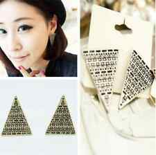 Fashion Exaggerated Retro Stud Big Triangle Pattern Earrings