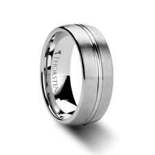 Thorsten BOSS  Tungsten Carbide Wedding Band Ring Brushed Center Groove Comfort
