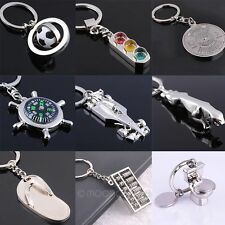 Creative Unisex Silver Model Keychain Key Ring Collect Metal Pendant Key chain