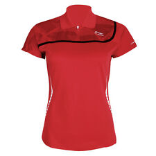 Li-Ning Ladies Badminton Polo Shirt in Red