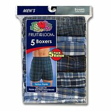 FRUIT OF THE LOOM MEN'S 5 PACK BOXERS WITH  PLUSH-BACKED WAISTBAND BOXERS